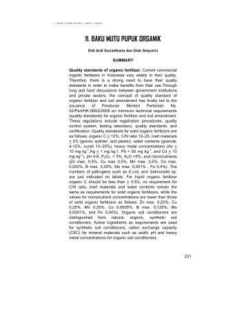Pengaruh bahan organik terhadap kesuburan tanah pdf