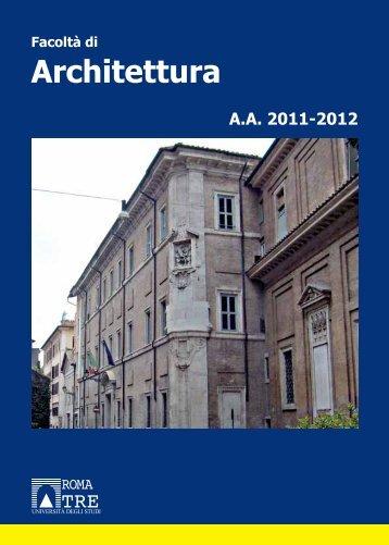 L facolt di architettura universit degli studi di for Studi di architettura