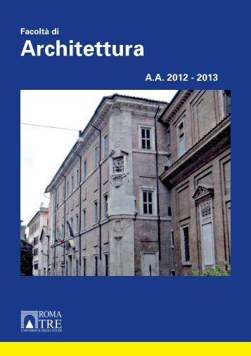 Download servizio di hosting universit degli studi for Studi di architettura roma