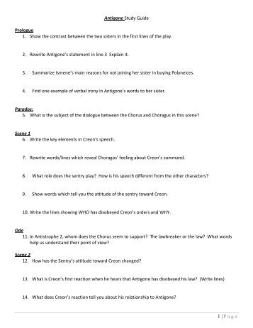 Worksheets Antigone Worksheet worksheet answers sharebrowse antigone sharebrowse