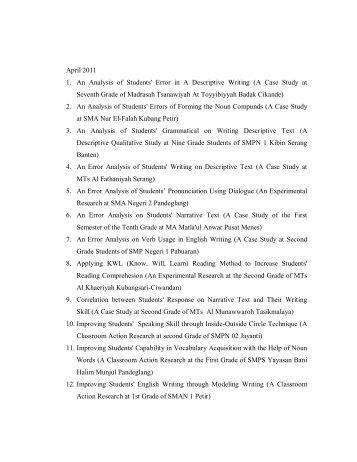 descriptive essay silence Descriptive essay outline structure of descriptive essay: introduction, body, conclusion paragraphs.