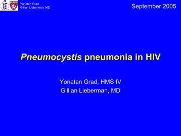 Pneumocystis pneumonia in HIV
