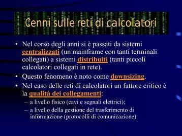 Lucidi in formato PDF - Dipartimento di Matematica e Informatica ...