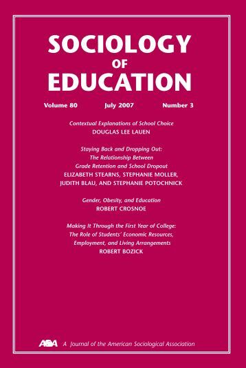 sociology education Stem education annual review of sociology vol 41:331-357 (volume  publication date august 2015) first published online as a review in advance on  may 4,.