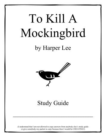 to kill a mockingbird study guide Literature study guides from 7sistershomeschoolcom inspire rather than tire students to kill a mockingbird study guide accompanies harper lee's novel.