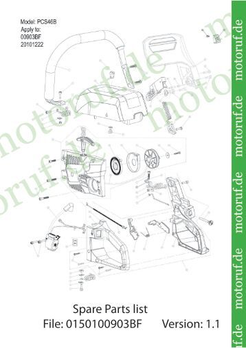 Spare Parts list File: 0150100903BF Version: 1.1 toruf.de motoruf.de ...