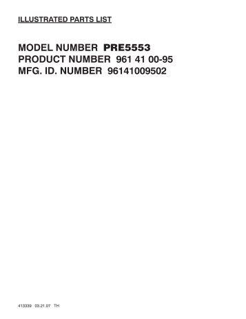 IPL, McCulloch, PRE5553, 96141009502, 2007-04, Lawn Mower