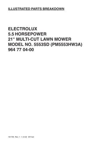 IPL, ProMac, 5553 SD, PM5553HW3A, 964770400, 2002-01, Lawn ...