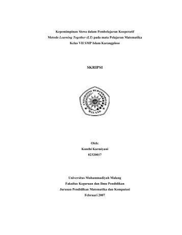 skripsi - Universitas Muhammadiyah Malang