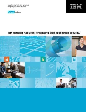 IBM Rational AppScan: enhancing Web application security.