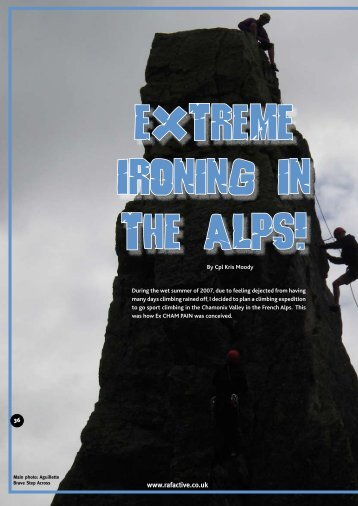 Extreme Ironing in the Alps!