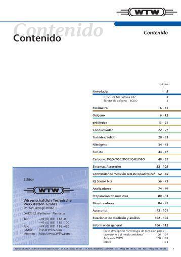 Contenido - Aquacare Gmbh & Co. KG