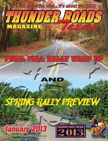 January 2013 - Thunder Roads Texas Motorcycle Magazine