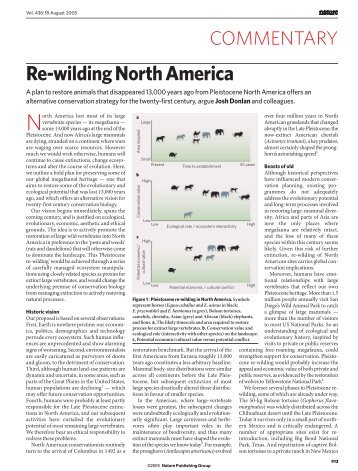 Rewilding Megafauna: Lions and Camels in North America?