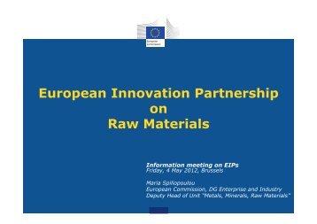 European Innovation Partnership on Raw Materials