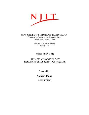 college essay for njit