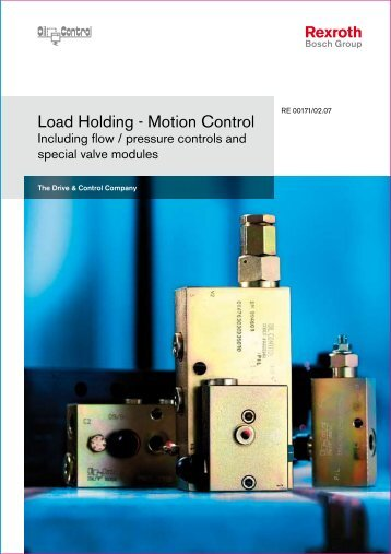 Load Holding - Motion Control - Bosch Rexroth