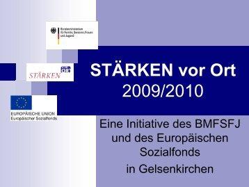 stärken vor ort 2009 - Stadt Gelsenkirchen, Referat Erziehung und ...