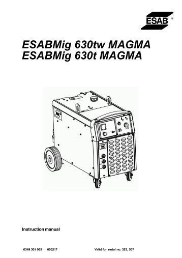 Origo™ Mig 4004i/5004i Origo™ Feed 3004/4804, MA23/MA24