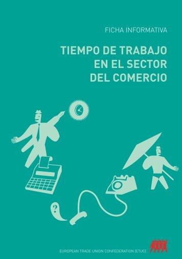 TIEMPO DE TRABAJO EN EL SECTOR DEL COMERCIO - CCOO