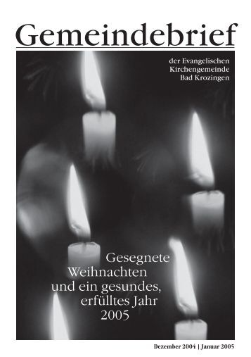 Gemeindebrief Dezember 2004/Januar 2005 - Evangelische ...