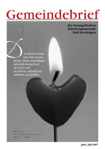 Gemeindebrief Juni/Juli 2007 - Evangelische Kirchengemeinde Bad ...