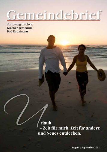 Gemeindebrief August/September 2011 - Evangelische ...