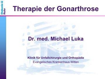 Dr. Michael Luka, Chefarzt der Klinik für Unfallchirurgie und ...
