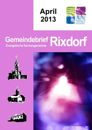 April 2013 - Ev. Kirchengemeinde Rixdorf