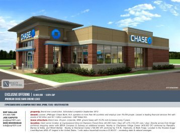 JPMORGAN Chase Bank Ground Lease - EXP Realty Advisors