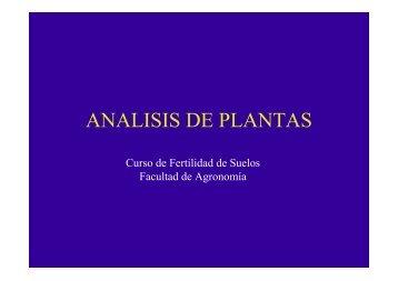 ANALISIS DE PLANTAS - Facultad de Agronomía