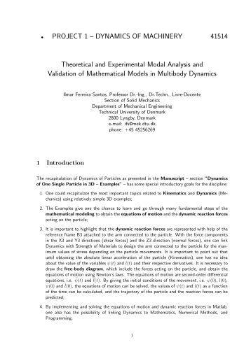fluid mechanics mini project pdf