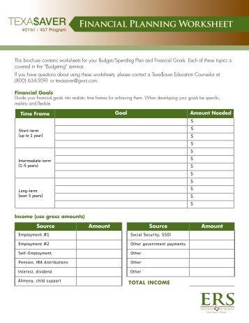 Us navy financial planning worksheet