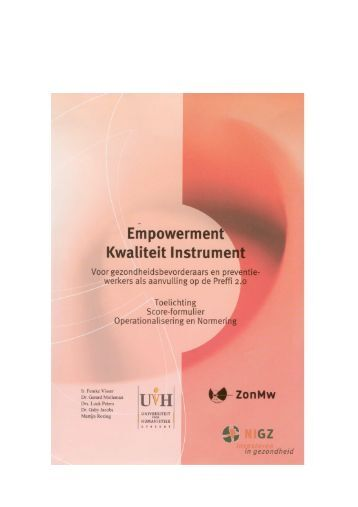 Empowerment kwaliteit instrument - NISB