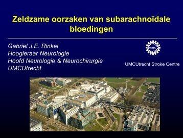 Zeldzame oorzaken van een subarachnoïdale bloeding - UMC Utrecht