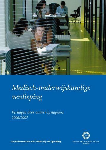 Medisch-onderwijskundige verdieping - UMC Utrecht