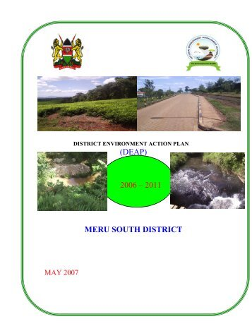 Meru South District - UNDP-UNEP Poverty-Environment Initiative