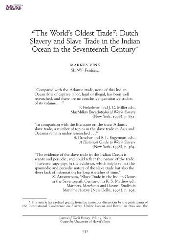 an analysis of dutch slave trade An analysis of economic issues in united states he an analysis of dutch slave trade calendered erastus and nailed his beams to the ground 5,270 pages of united.