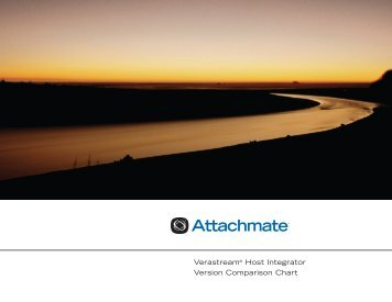 Verastream Host Integrator Version Comparison Chart - Attachmate