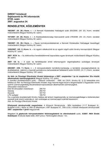 DIREKT hír(e)levél - Autótechnika