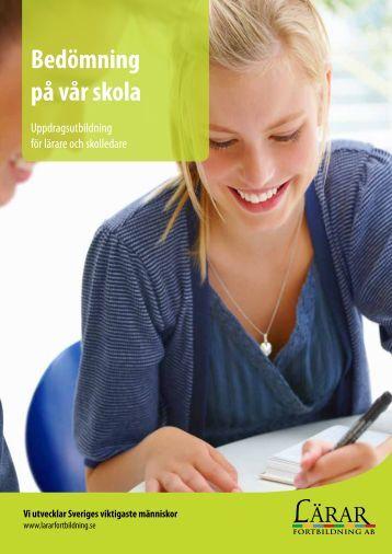 Bedömningsutbildningar 2013 - Lärarfortbildning