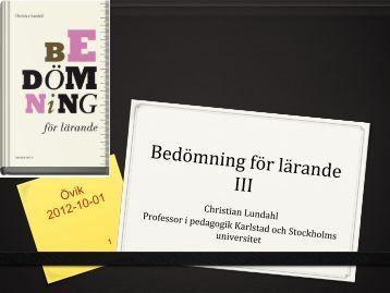 Övik 121001_handout_clundahl - Bedömning för lärande i ...