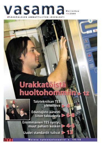 Vasama 10 2009 - Sähköliitto