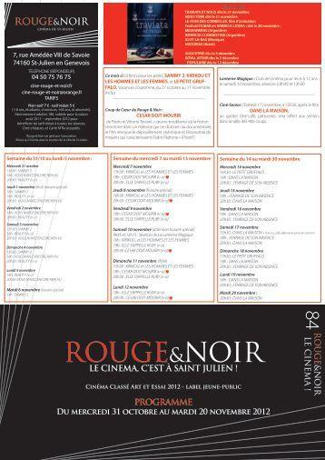 Fessses rouges numilog - Rouge et noir cinema ...