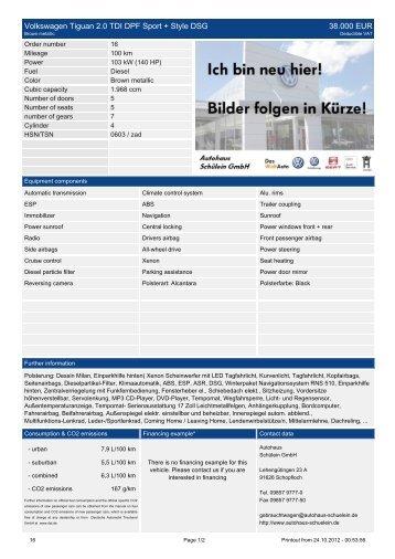 Volkswagen Tiguan 2.0 TDI DPF Sport + Style DSG 38.000 EUR
