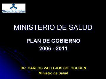 MINISTERIO DE SALUD - Foro salud