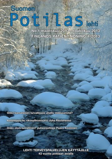 1/2013 - Suomen Potilasliiton