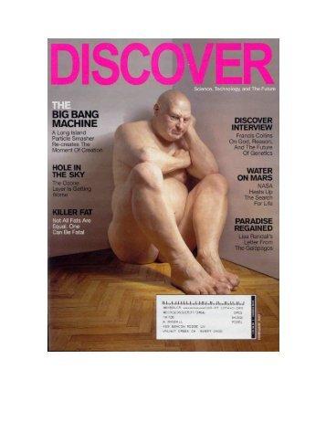 Discover Article - Frankfurt Institute for Advanced Studies