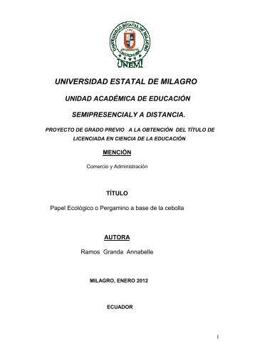 universida sidad estatal de milagr agro - Repositorio de la ...