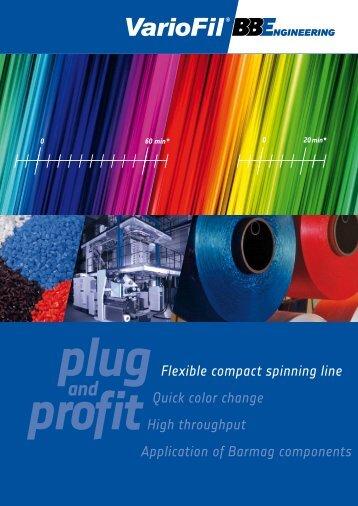 VarioFil ® Brochure. - Oerlikon Barmag - Oerlikon Textile